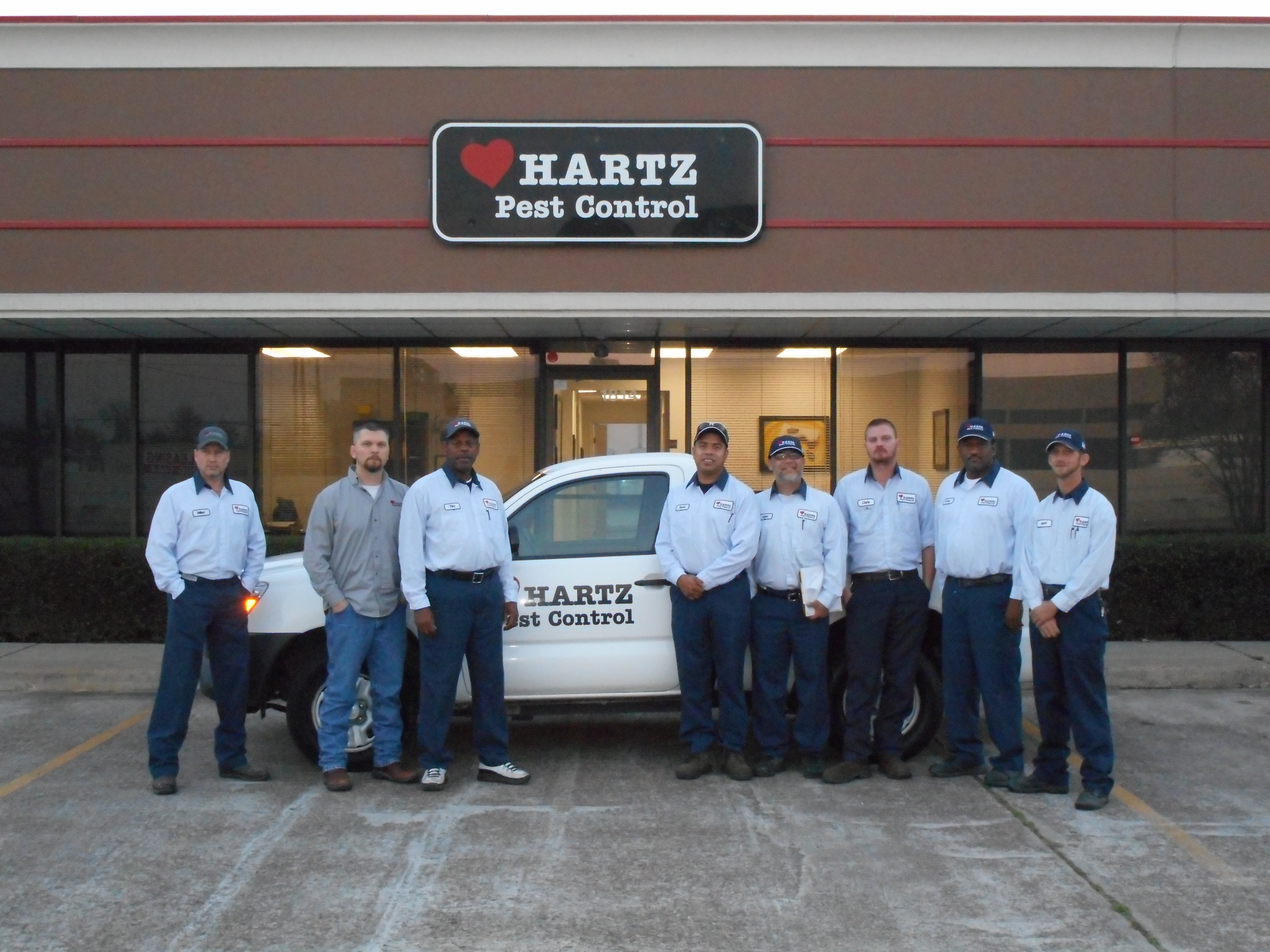 Hartz Technicians Pose For A Group Picture In Katy Texas