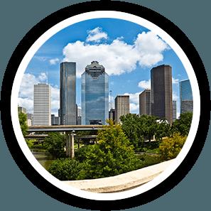 Houston Skyline of Houston's Pest Control Service Area.